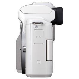 Canon EOS M50 Mirrorless Camera Body - White Thumbnail Image 4